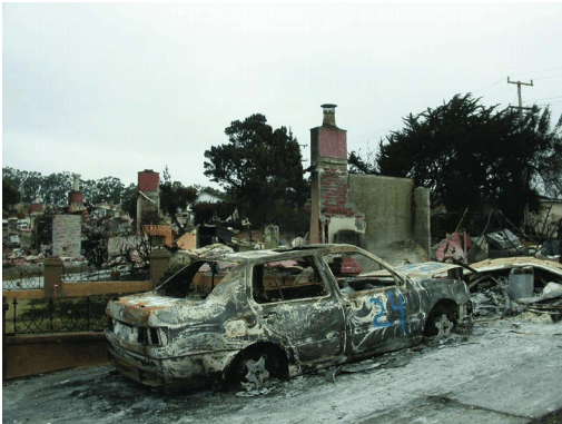 San Bruno destruction