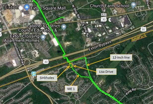 Lisa Drive pipeline details 7-11-18