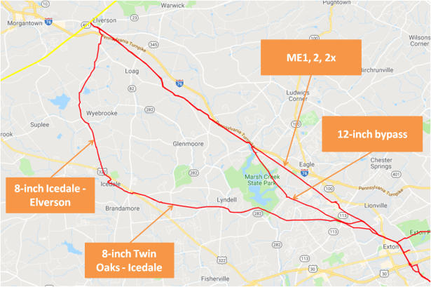 three pipelines from Morgantown 2-5-19