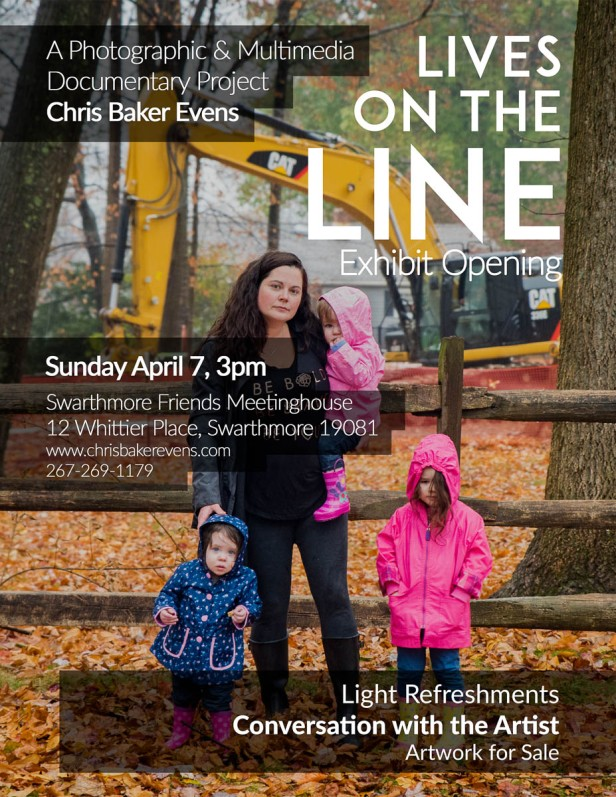 """Come to the opening of """"Lives on the Line"""" exhibit in"""
