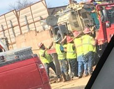 Sunoco workers huddling (Lora 4-3-20)